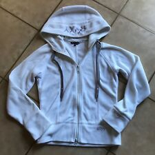 Roxy womens white fleece hoody size XS
