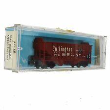 N-scale Atlas 2245 Burlington Open Oppen Hopper #172700 CB&Q Red Coal Ballast