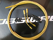 JAGWIRE -GOLD MEDAL CGX-SL OUTER BRAKE CABLE - 2 METRES + 2 GOLD V PIPES/BOOTS