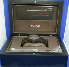 Modern Medium Clean Faced Wooden Tudor Watch With Papers And Extra Strap