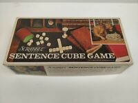 1971 Selchow & Righter Scrabble SENTENCE CUBE GAME