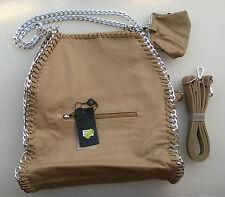 Borsa Donna Avana MAGIC BAGS Colore Avana Con Manici Fissi e Tracolla Staccabile