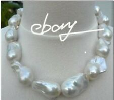 Huge 18-26mm Natural south sea genuine nuclear white pearl necklace