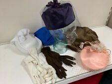 Job lot Genuine vintage Hats and gloves including Birdcage Hats
