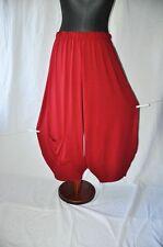 Layered Look Oversized Jersey-Pants Bag Burgundy 52,54, 56,58, XXXL, XXXXL