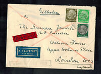1939 Munich Germany Cover to England German Jewish Aid CommitteeExpress Mail