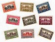 9 Stamps from Austria 1919-1921 Deutschosterreich Mint Light Hinged
