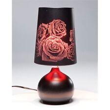 Design Tischlampe BOUDOIR ROSE black/red