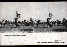 ALGERIE / FANTASIA , FETE EQUESTRE animée / Carte STEREO début 1900