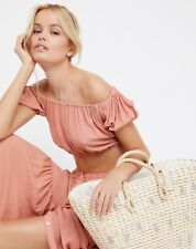 NEW Free People Sundrenched Straw Tote Handbag Vacation Summer Beach