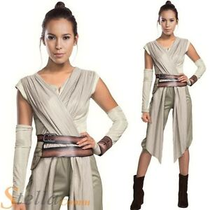 Official Ladies Deluxe Rey Star Wars Force Awakens Fancy Dress Costume Outfit
