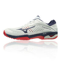 Mizuno Mens Wave Exceed Tour 3 AC Tennis Shoes - Navy Blue Red White Sports
