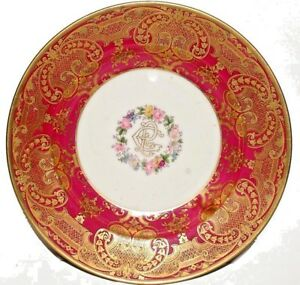 VINTAGE PLATE WITH GOLD WORK MADE BY W.GUERIN & Co PARIS & LIMOGES COLLECTIBLES