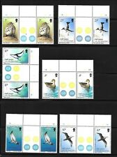 SOUTH GEORGIA Sc 109-23 NH GUTTER PAIRS OF 1987 - BIRDS. Sc$80