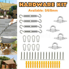 Sun Sail Shade Fixing Accessory Stainless Steel Kit Garden Patio Canopy