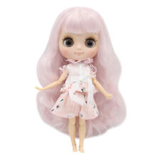 """8"""" Neo Middie Blythe Doll Joint Body Matte Face Light Pink Hair From Factory"""