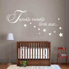 Twinkle Little Star Vinilo Arte Pared Calcomanía Decoración para el Hogar Pegatinas Vivero extraíble