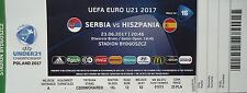 TICKET UEFA Euro 23.6.2017 U21 Serbien - Spanien Match 16