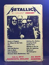METALLICA Knebworth Concert Poster Vintage Retro METAL SIGN Wall Decor 16x12  Cm