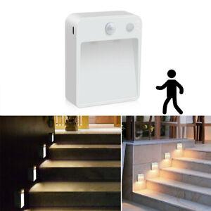LED Step Stair Auto Light PIR Infrared Motion Sensor Wireless Pathway Night Lamp