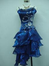 Cherlone Blau Damenkleider Ballkleid Hochzeit Abendkleid Brautjungfer Kleid 48