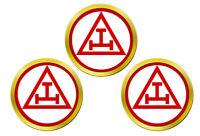 Royal Arc Maçonnerie Triple Tau Marqueurs de Balles de Golf
