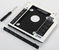 Add 2nd Hard Drive SSD Caddy for HP ZBook 15 17 G1 G2 Workstation SU-208CB DVD