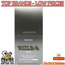 Rizla Tobbaco Silver Regular Size Cigarette Rolling Papers 100 Packets Full Box