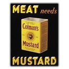 colman's Mostaza letrero de metal Placa de Pared Vintage Retro Cocina ANUNCIO