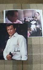 Sir Roger Moore Signed Autographed Photo with COA and Photo Proof James Bond