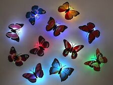 LED LUCE LIGHT FARFALLA BUTTERFLY OPTICAL FIBER LIGHT'S UP AG 13 RGB MULTICOLORE