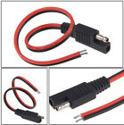 1pc Red+Black Battery Tender SAE DC 12V Power Automotive DIY Connector Cable