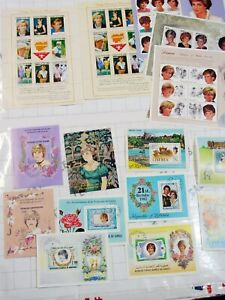 LOT 15x sheets sheetlet collector blocks PRINCESS DIANA UK England postal STAMPS