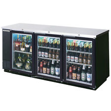 Beverage Air Bb72Gy-1-B, 72-Inch Back Bar Cooler with 3 Glass Doors, Ul, cUl, Ul