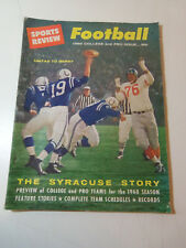 1960 Sports Review FOOTBALL Magazine - Yearbook JOHNNY UNITAS Baltimore Colts