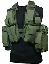 12 POCKET Olive Green Tactical Assault VEST Rig Army Military Ammo Utility Pouch