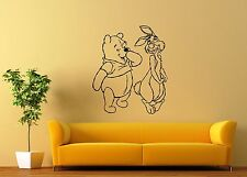 Wall Stickers Vinyl Decal Winnie The Pooh Cartoon Animal Kids Room (ig1045)