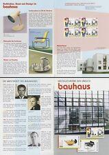 Klappkarte Weltkulturerbe bauhaus, Musterhäuser Dessau (Viererblock MiNr.2394)