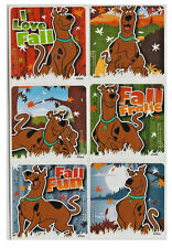 """25 Scooby Doo Fall / Autumn Stickers, 2.5"""" x 2.5"""" each, Party Favors"""