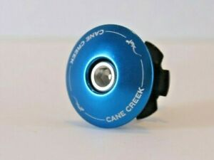 "NEW Cane Creek 1 1/8"" Headset Top Cap, Bolt, and Star Nut 1 1/8"" BLUE"