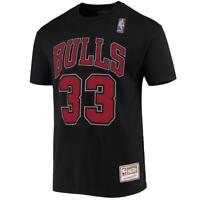 Scottie Pippen Chicago Bulls Mitchell & Ness NBA Name Number T-Shirt - Black