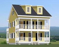 24x24 House -- 3 Bedroom 3 Bath -- 1,660 sq ft -- PDF Floor Plan