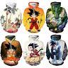 Women Men Goku Kid 3D Casual Hoodies Pullover Sweatshirt Anime Dragon Ball Tops