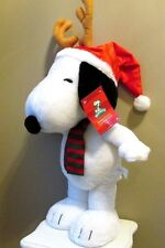 Snoopy Christmas Figurine Peanuts Plush Porch Sitter Greeter 2' Reindeer