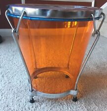 Acrylic Caja Vallenata (Professional Orange Colombian Vallenato Drum)