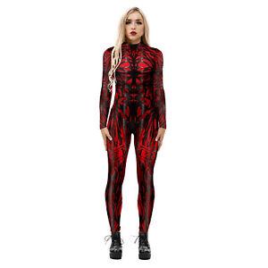 2020 Venom 2 Carnage Women Jumpsuit Cosplay Costume Superhero Tights Halloween