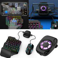 Wired Mechanical Keyboard Gaming Mouse Cooling Fan Holder PUBG Mobile Gamepad