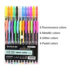 Drawing Painting Art Gel Pens Set of 24 Colors - Metallic, Glitter, Neon, Pastel