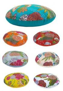 All Size Round Cushion Covers Floor Decorative Kantha Handmade Pillows Covers