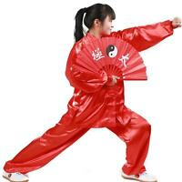 Chinese Wing Chun Kung Fu Suits Martial Clothes Tai Chi Taijiquan red